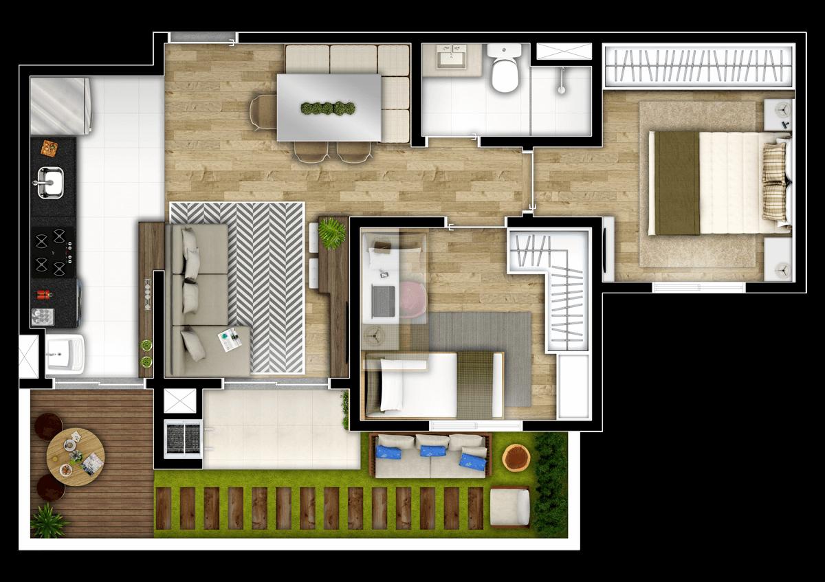 2 Dormitórios
